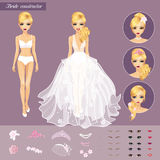Blonde Bride Character Constructor Stock Photos