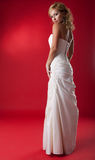 Blonde bride in white dress Royalty Free Stock Photography