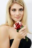 Blonde bright girl stock photo