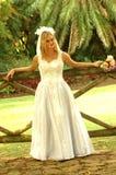 Blonde bruid Royalty-vrije Stock Foto's