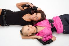 Blonde and brunette Royalty Free Stock Images