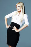 Blonde business girl Stock Photo