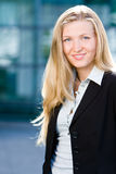 Blonde business woman Royalty Free Stock Image