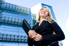 Blonde business woman Stock Images