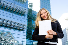 Blonde business woman Stock Photo