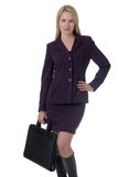 Blonde business woman Royalty Free Stock Images