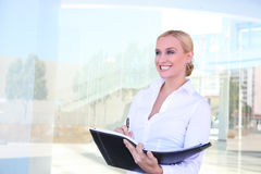 Blonde Business Woman Stock Image