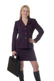 Blonde business woman royalty free stock photo