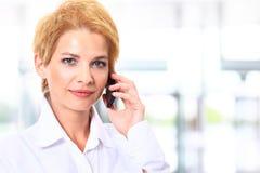 Blonde business woman Stock Photos