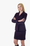 Blonde business woman royalty free stock photos