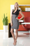Blonde business woman full-lenght Royalty Free Stock Photo