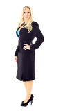 Blonde business woman in suit full length Royalty Free Stock Photography