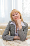 Blonde businesswoman Stock Photography