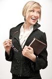 Blonde businesswoman Stock Images