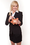 Blonde businesswoman chatting on her mobile Royalty Free Stock Image