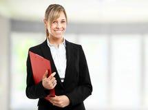 Blonde businesswoman portrait Royalty Free Stock Photos