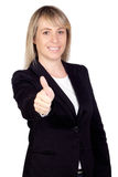 Blonde businesswoman saying Ok Stock Photography