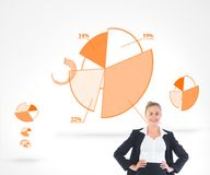 Blonde businesswoman standing with hands on hips Royalty Free Stock Photo