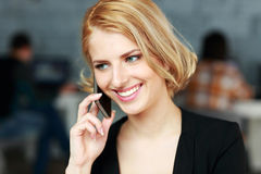 Blonde businesswoman talking on the phone Stock Photography