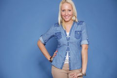 Blonde  casual wear Stock Photography