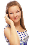 Blonde with cellphone Stock Image