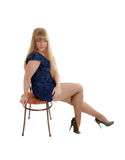 Blonde on a chair Stock Photography