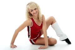 Blonde Cheerleader Lizenzfreies Stockfoto