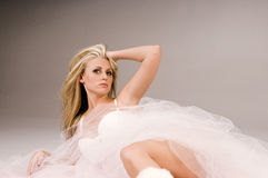 Blonde in Chiffon Royalty Free Stock Photo