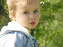 Blonde child royalty free stock images