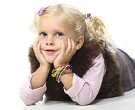 Blonde child portrait Royalty Free Stock Images