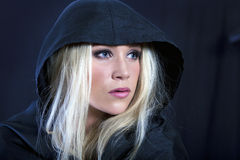Blonde in cloak Royalty Free Stock Photo