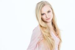 Blonde com cabelo longo Foto de Stock Royalty Free