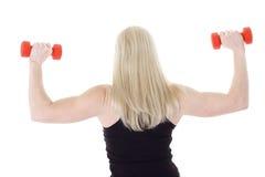 Blonde com ondas traseiras Foto de Stock