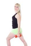 Blonde com os braços retos Fotos de Stock