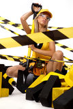 Blonde Construction Worker Royalty Free Stock Photo
