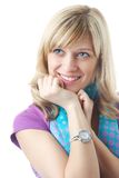 Blonde coquette Royalty Free Stock Photos