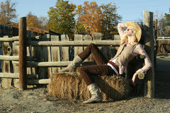 Blonde Country Girl Stock Images