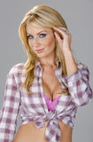 Blonde Country Girl Model Royalty Free Stock Photos