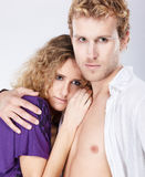 Blonde couple Royalty Free Stock Photo
