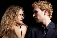 Blonde couple Royalty Free Stock Images