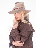 Blonde cowgirl Stock Image