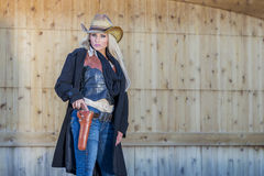 Blonde Cowgirl Royalty Free Stock Image