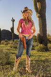 Blonde Cowgirl Stock Images