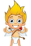 Blonde Cupid Character Stock Photos