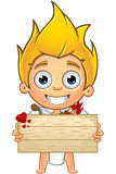 Blonde Cupid Character Royalty Free Stock Image