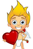 Blonde Cupid Character Stock Photography