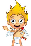 Blonde Cupid Character Stock Photo