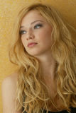 Blonde curled Royalty Free Stock Photos