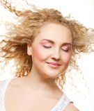 Blonde with curly hair Stock Photography