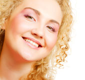 Blonde with curly hair Royalty Free Stock Photography